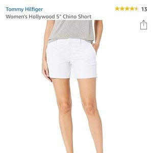 "Tommy Hilfiger White Hollywood 5"" Chino Shorts"